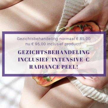 Gezichtsbehandeling inclusief Intensive-C Radiance Peel!
