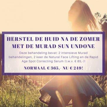 Herstel de huid na de zomer met de Murad Sun Undone