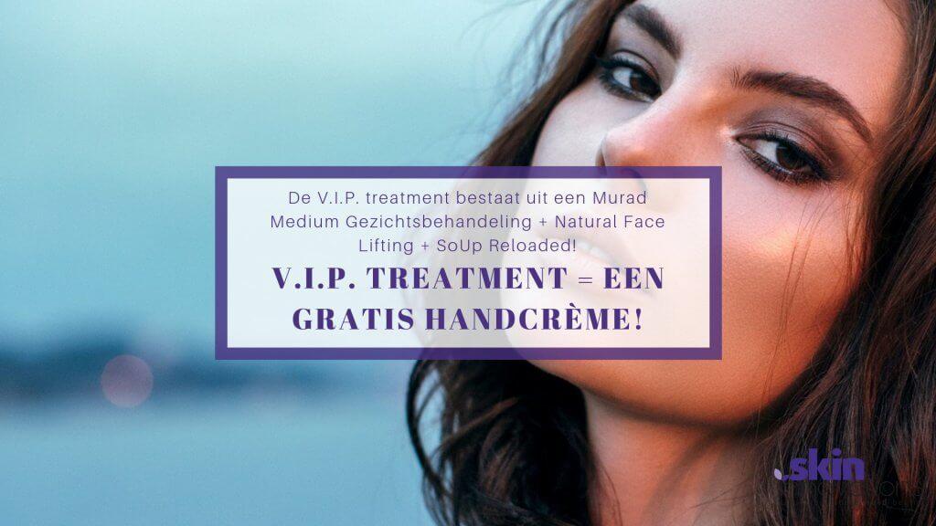 V.I.P. treatment = GRATIS handcréme!